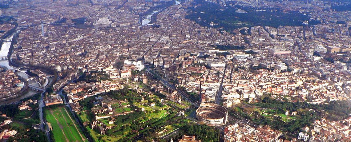 A view from above of the Roman Rioni