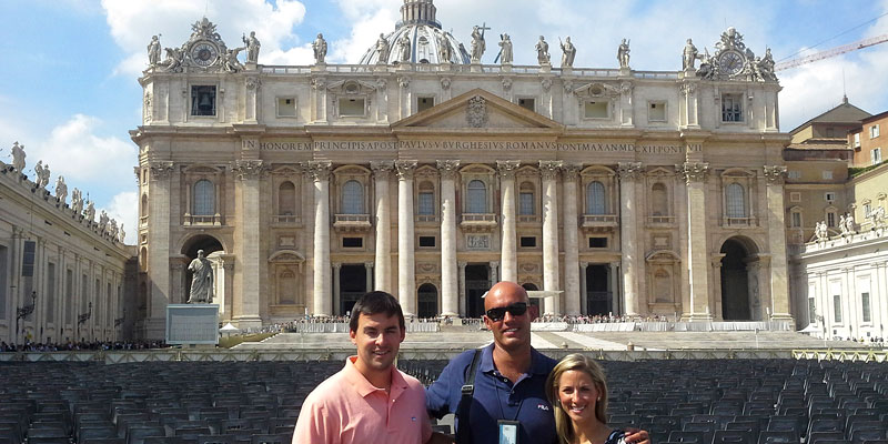 In front of St. Peter's Basilica