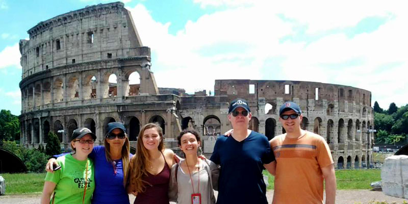 With new friends at the Colosseum