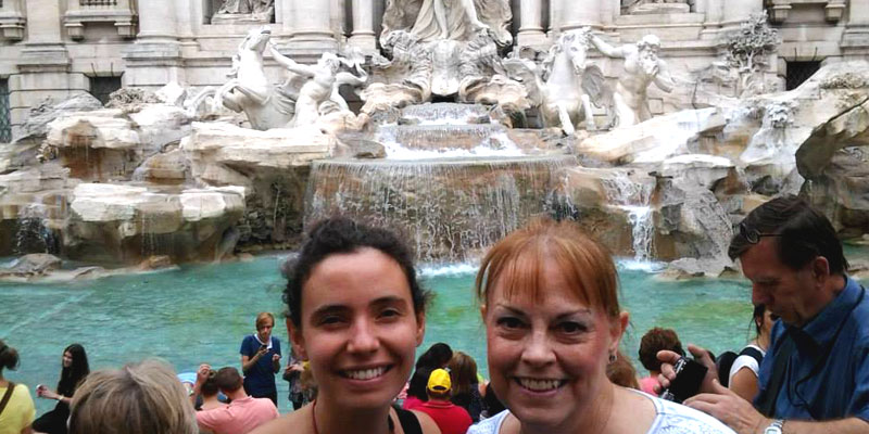 After a coin toss into Trevi Fountain