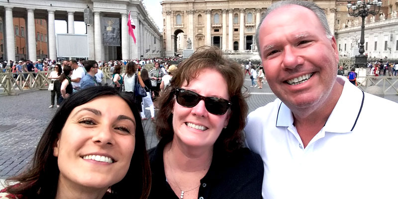 Smiles in St. Peter's square